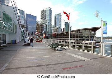 promenade., miejsce, kanada