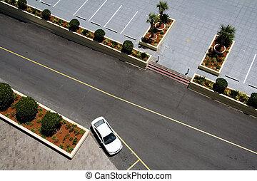 prospekt, antena, los, parking