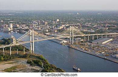 prospekt miasta, antena, most