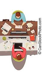 prospekt, spotkanie, handlowy, górny, projektować, pojęcie