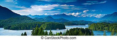 prospekt, wyspa, vancouver, kanada, tofino, panoramiczny