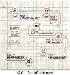 prostota, szablon, infographic, projektować