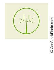 prosty, logo, 2, drzewo
