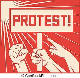 protest, projektować