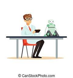 prototyp, próby, naukowiec, robot, inżynier
