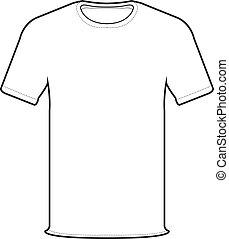 przód, wektor, t-shirt