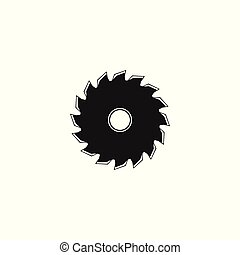 przecinacz, drewno, projektować, logo, budulec, natchnienie