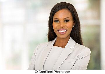 przedsiębiorca, młody, biuro, afrykanin