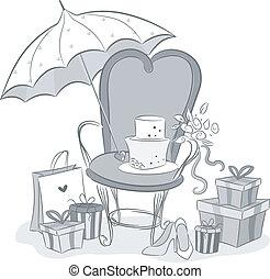 przelotny deszcz, embellishments, wesele
