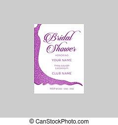 przelotny deszcz, wesele, wektor, zaproszenie