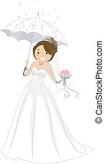 przelotny deszcz, wesele