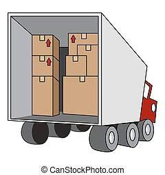 przemieszczenie, przeniesienie samochód