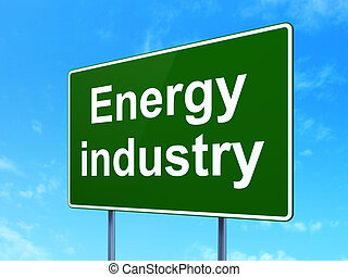 przemysł, manufacuring, znak, droga, tło, energia, concept: