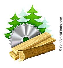 przemysł, wyrabianie z drewna, ikona