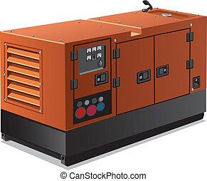 przemysłowy, dostarczcie energii elektrycznej generator