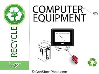 przerabianie surowców wtórnych, wyposażenie, komputer, dogadzać