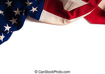 przestrzeń, rocznik wina, amerykańska bandera, biały, kopia
