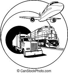 przewóz, biały, odznaka, czarnoskóry