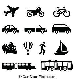 przewóz, czarnoskóry, ikony