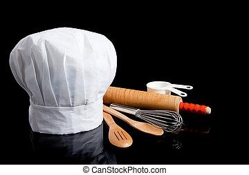 przybory, gotowanie, tok