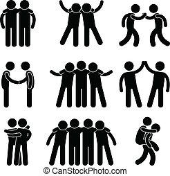 przyjaźń, przyjaciel, związek, drużyna