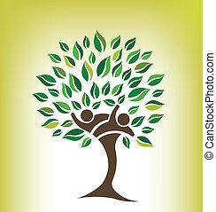 przyjaciele, drzewo, logo