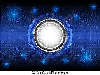 przyszłość, pojęcie, technologia, tło, cyfrowy