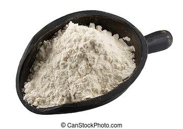 pszenica, pył, szufelka, inny, proszek, biały, albo