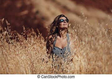 pszeniczysko, kobieta, piękny