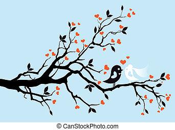 ptaszki, wektor, ślub
