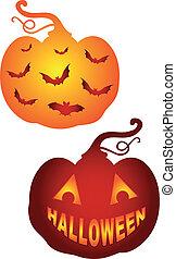 pumkins, wektor, halloween