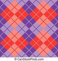 purpurowy, argyle, czerwony
