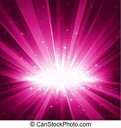 purpurowy, lekki wybuch, gwiazdy