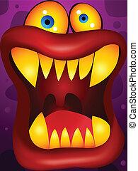purpurowy, potwór