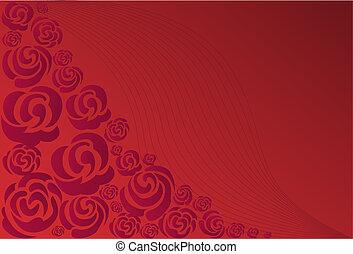 purpurowy, róże
