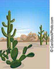 pustynia kaktus