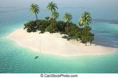 pustynia wyspa, prospekt, antena, caribbeanl