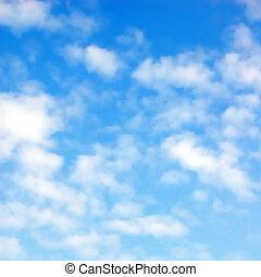 puszysty, chmury