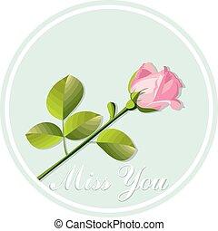 róża, karta