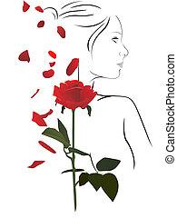 róża, kobieta