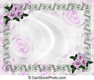 róże, ślub, lawenda, zaproszenie