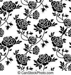 róże, biały, czarnoskóry