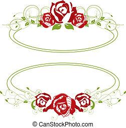 róże, czerwony