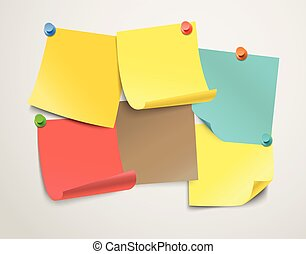 różny, kolor, collection., papier, szablon, tekst, majchry