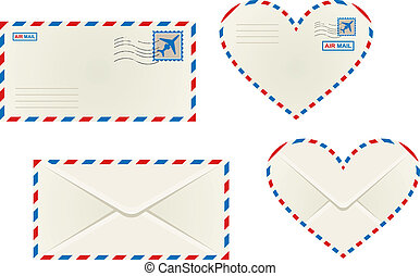 różny, poczta lotnicza, koperty
