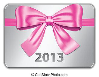 różowy, 2013, karta, łuk