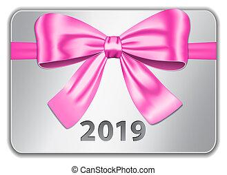 różowy, 2019, tabliczka, łuk