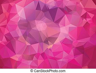 różowy, abstrakcyjny, geometryczny, tło
