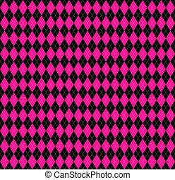 różowy, argyle, pled, kolor, plastyk
