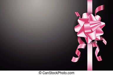 różowy, czarne tło, łuk daru
